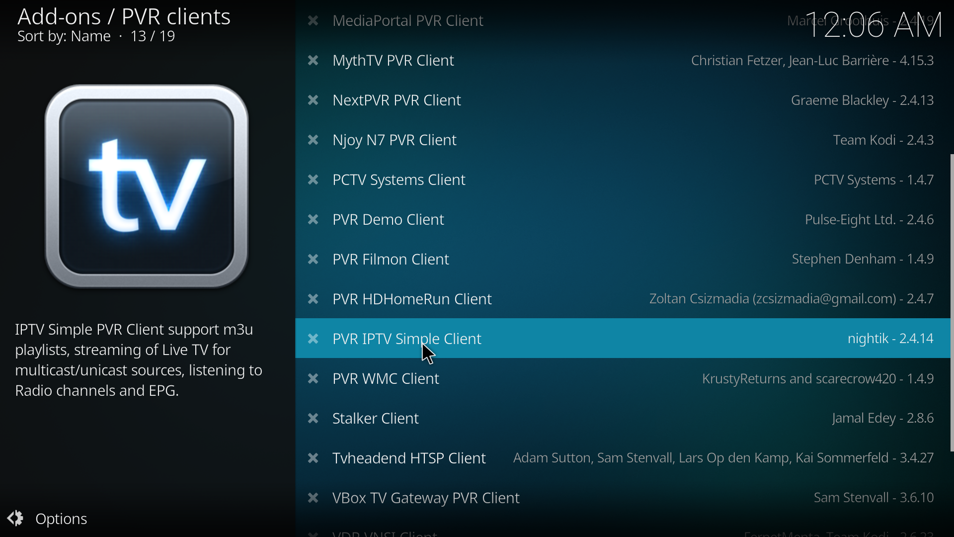 Kodi PVR IPTV Simple Client With EPG - Knowledgebase - Universal Hosting