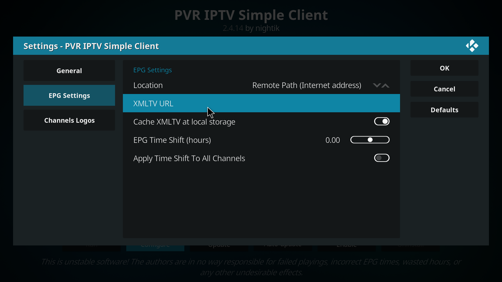 Kodi PVR IPTV Simple Client With EPG - Knowledgebase